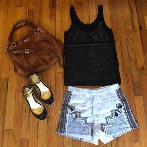 NWOT J.Crew Collection Tassel Linen Shorts